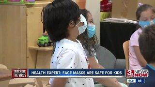 Health expert: Face masks are safe for kids