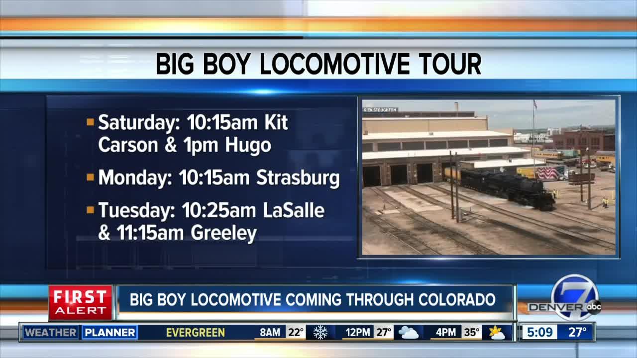 Big Boy locomotive coming to Colorado