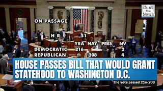 House passes bill that would grant statehood to Washington D.C.