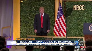 President trump coming to Baltimore on Thursday
