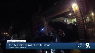 $10 Million lawsuit threatened in TPD in-custody death