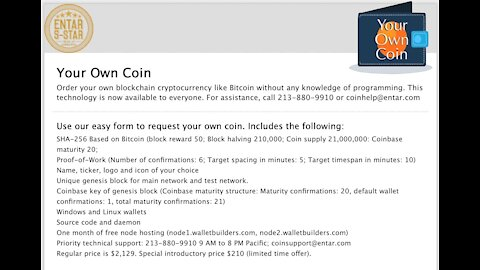 My Own Bitcoin: How to Create Your Own Cryptocurrency the Easy Way