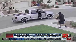 Bakersfield police arrest man for stealing packages