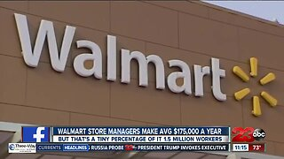 Walmart store managers make $175,000 annually on average
