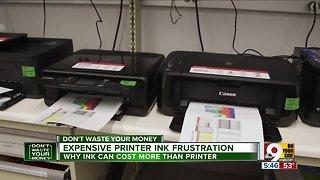 Expensive printer ink frustration