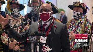 Kansas City Mayor Quinton Lucas arrives in Tampa ahead of Super Bowl