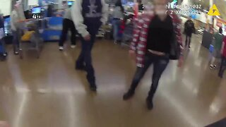 Goodyear police officer confronts suspect in Walmart