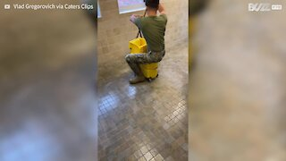 Soldier cleaning fail is hilarious