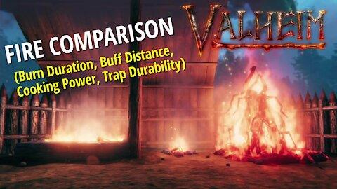 Fire Source Comparison - Valheim