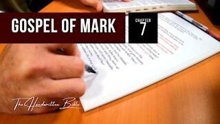 Gospel of Mark, Chapter 7 | The Handwritten Bible (English, KJV)