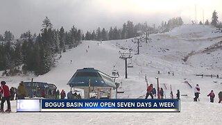 Bogus Basin now open 7 days a week
