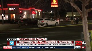 Early-morning fatal collision closes traffic in Central Bakersfield