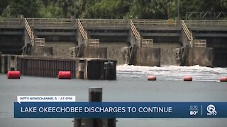 Army Corps of Engineers says Lake Okeechobee water releases will continue at same rate, for now