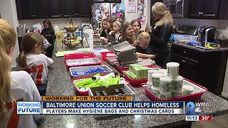 Baltimore Union Soccer Club helps those in need with hygiene bags, Christmas cards