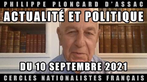 Actualité et politique du 10 Septembre 2021