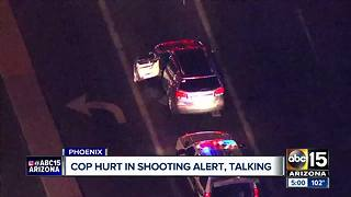 Injured Phoenix officer is alert and talking after being shot by a suspect