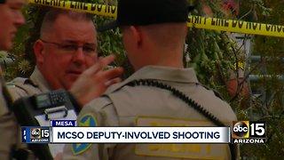 Man dies following deputy-involved shooting in Mesa
