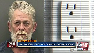 Hillsborough County man arrested after woman finds hidden camera in home