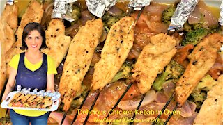 Delicious Chicken Kebab in Oven