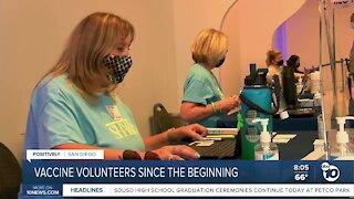Vaccine volunteers since the beginning