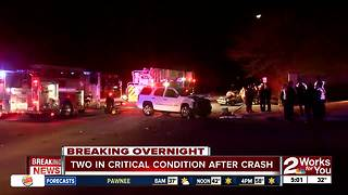 Two people in critical condition after overnight crash