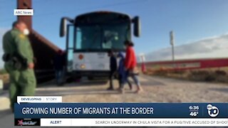 Growing number of migrants at southern border