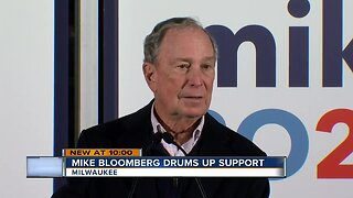 Democratic Presidential Candidate Michael Bloomberg visited Milwaukee on Saturday