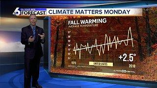 Climate Matters Monday - Fall Warming