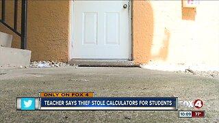 Calculators stolen from teacher a week before school starts