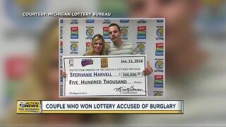 Michigan couple who won lottery accused of burglary