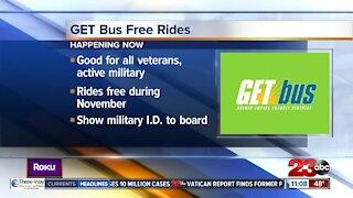 GET Bus offering free rides for veterans through November