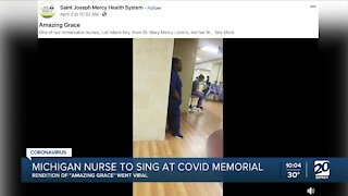 Michigan nurse who sang in viral video to perform at national memorial ceremony