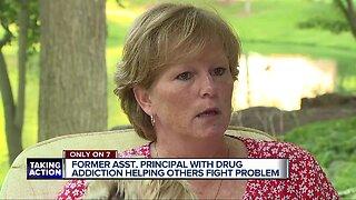Former middle school assistant principal speaks about addiction to prescription drugs after arrest