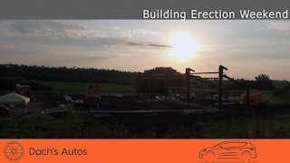 Steel Building Erection: Construction Day! (and rain delays)