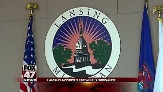 Firework ordinance passes in Lansing