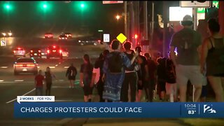 Charges protesters could face