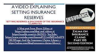 A Video Explaining Setting Insurance Reserves