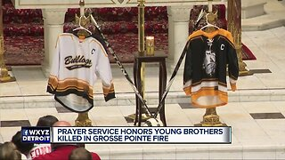 Prayer service honors young brothers killed in Grosse Pointe fire