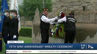 75th WWII anniversary wreath ceremony