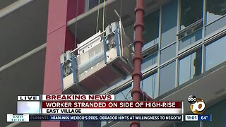 Workers rescued on downtown San Diego high-rise