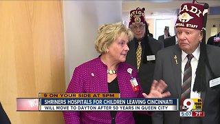 Shriners hospital leaving Cincinnati