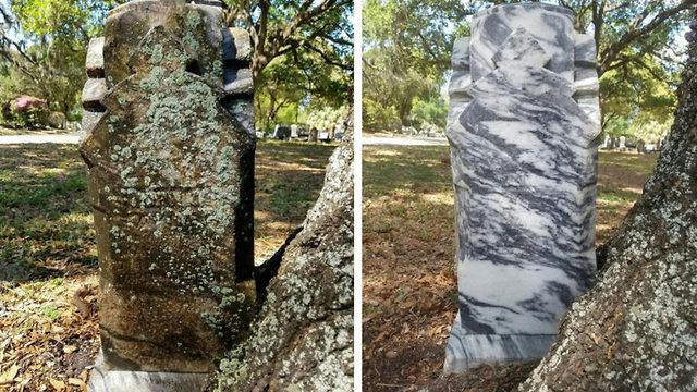 Mann har brukt fem år på å restaurere fremmedes gravsteiner