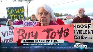 'Raging Grannies' ask parents gift their children peaceful toys