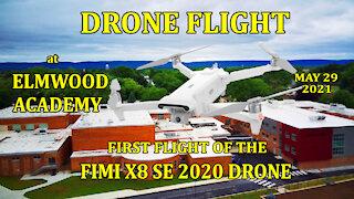 Drone Flight at Elmwood Academy - Fimi 8XSE 2020 First Flight