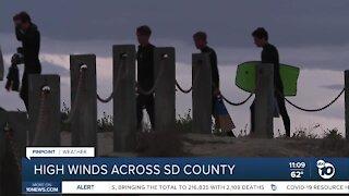 High winds across San Diego County