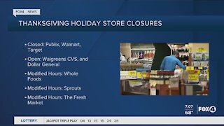 Supermarkets open/closed for Thanksgiving