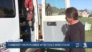 Community helps plumber after tools were stolen