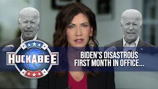 Governor Kristi Noem SLAMS Biden's DISASTROUS First Month | Huckabee
