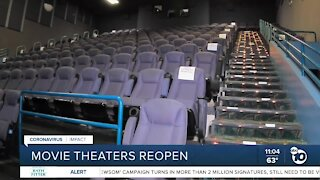 San Diego movie theaters to reopen with county in red tier