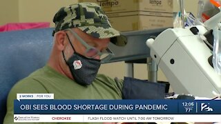Oklahoma Blood Institute Sees Blood Shortage Due to Pandemic